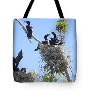 Cormorants Nesting Tote Bag