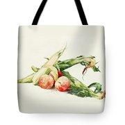 Corn And Peaches Tote Bag