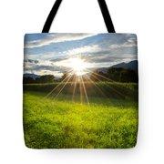 Corn Field In Backlight Tote Bag