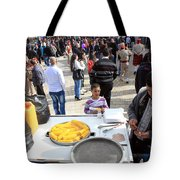 Corn Of The Cob Salesman Tote Bag