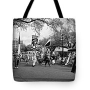Corner Club 4 Black And White-mardi Gras Tote Bag