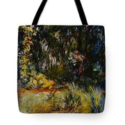 Corner Of A Pond With Waterlilies Tote Bag