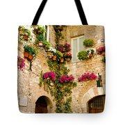 Corner Of Flowers Tote Bag
