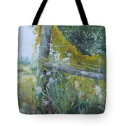 Corner Of Lace And Vine Tote Bag