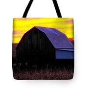 Cornfield Barn Sky Tote Bag