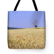 Cornfield With Poppies Tote Bag