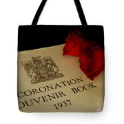 Coronation Book With Roses Tote Bag