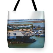 Corpus Christi Bay Towards Mustang Island Texas Tote Bag