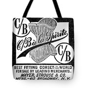 Corset Advertisement, 1888 Tote Bag