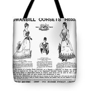 Corset Advertisement, 1892 Tote Bag