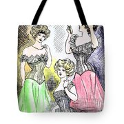 Corset Ladies Tote Bag