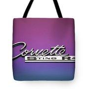 Corvette Sting Ray Emblem Tote Bag