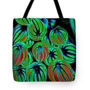 Cosmic Watermelon Leaves Tote Bag