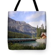 Crossing Emerald Lake Bridge - Yoho Nat. Park, Canada Tote Bag