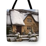 Cotswolds Cottage Covered In Snow Tote Bag