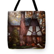 Cottage - Westfield Nj - A Place To Retire Tote Bag by Mike Savad