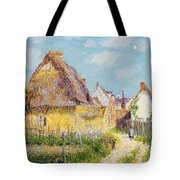 Cottage At Le Vaudreuil Tote Bag by Gustave Loiseau
