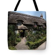 Cottage With Flowers Tote Bag