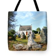Cottage With Standing Stones Tote Bag