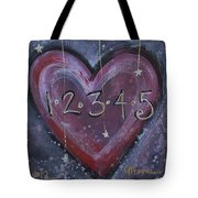 Counting Heart Tote Bag