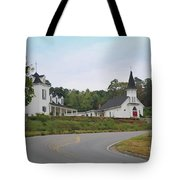 Country Church In Texture Tote Bag