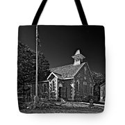 Country Church Monochrome Tote Bag