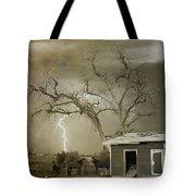 Country Horses Lightning Storm Ne Boulder Co 66v Bw Art Tote Bag