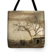 Country Horses Lightning Storm Ne Boulder County Co 76septx Tote Bag