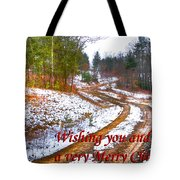 Country Lane Holiday Card Tote Bag