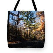 Country Road In Autumn Tote Bag