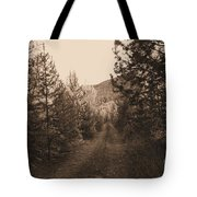 Country Road In Sepia  Tote Bag