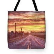 Country Road Sunrise Tote Bag