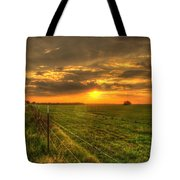 Country Roads Sunset Tote Bag