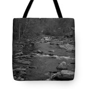 Country Stream Bw Tote Bag