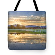 Country Sunset Reflection Tote Bag