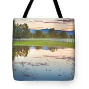 Country Sunset Reflections Tote Bag