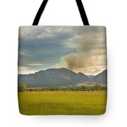 Country View Of The Flagstaff Fire Tote Bag