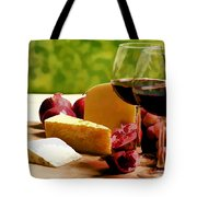 Countryside Wine  Cheese And Fruit Tote Bag