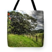 Countryside With Old Fig Tree Tote Bag