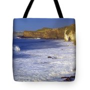 County Antrim, Ireland Seascape With Tote Bag