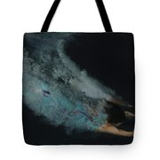 Couple Dive Together Into Water. Tote Bag