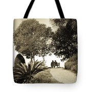 Couple On The Bench In Venice Tote Bag