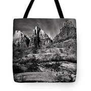 Court Of The Patriarchs - Bw Tote Bag