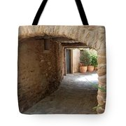 Courtyard In The Village Tote Bag