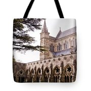 Courtyard Salisbury Cathedral - England Tote Bag
