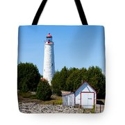 Cove Island Lighthouse Tote Bag