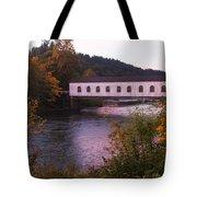 Covered Bridge At Dawn No. 2 Tote Bag