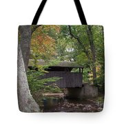Covered Bridge By The Cottage  Tote Bag