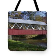 Covered Bridge In Fall Tote Bag
