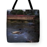Covered Bridge In The Rain Tote Bag